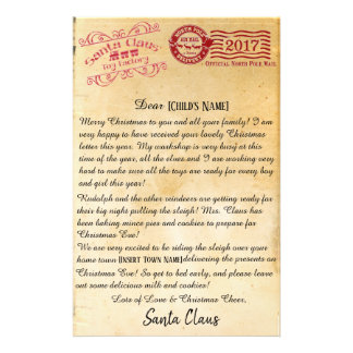 Letter From Santa   North Pole Letters Stationery