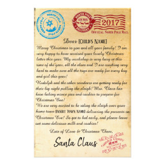 Letter From Santa   North Pole Letters   V2 Stationery