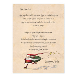 Letter From Santa Personalized Card