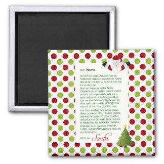 Letter from Santa Square Magnet
