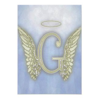 Letter G Angel Monogram Card