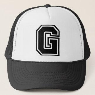 """Letter """"G"""" Classic Trucker Hat"""