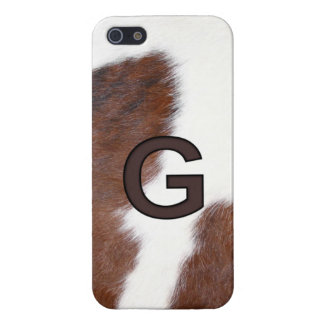 Letter G Cowhide Brand Iphone 5 Case