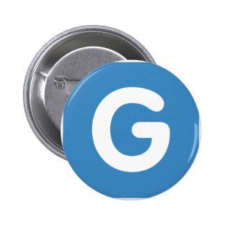 Letter G - emoji Twitter 6 Cm Round Badge