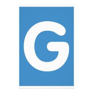 Letter G - emoji Twitter