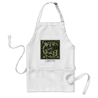 Letter G First Letter Monogram Personalized Standard Apron