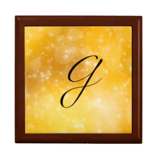 Letter G Large Square Gift Box