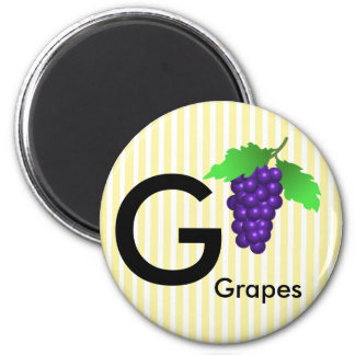 """Letter G"" is for grapes children's Magnet"