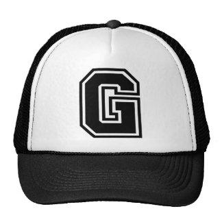 """Letter """"G"""" Monogram Mesh Hat"""