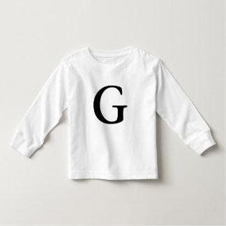 Letter G monogrammed initial tshirt