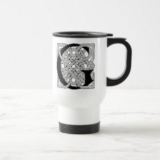 Letter G Vintage Celtic Knot Monogram Coffee Mugs
