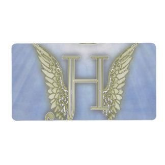Letter H Angel Monogram