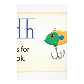 Letter H Customized Stationery