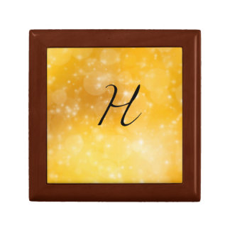 Letter H Small Square Gift Box