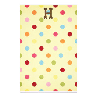 Letter H Personalised Stationery