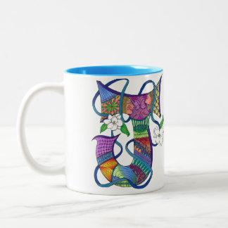 Letter J  2 tone coffee mug