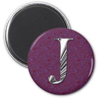 Letter J Monogram Refrigerator Magnet