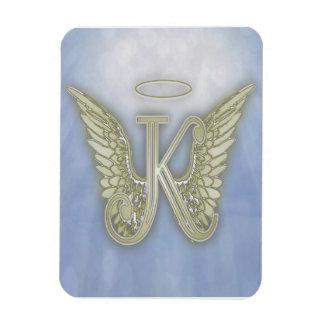 Letter K Angel Monogram Magnet