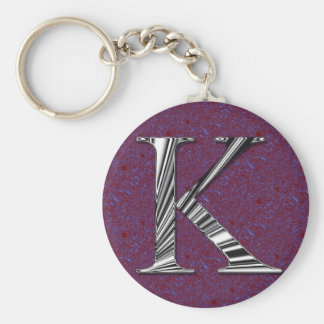 Letter K Monogram Key Ring