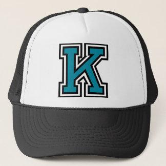 """Letter """"K"""" Monogram Trucker Hat"""