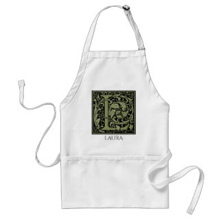 Letter L First Letter Monogram Personalized Standard Apron