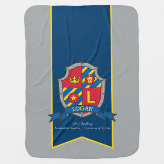 Letter L Logan custom crest name meaning blanket