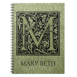 Letter M First Letter Monogram Notebooks