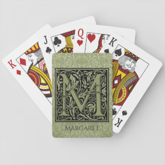 Letter M First Letter Monogram Personalised Playing Cards