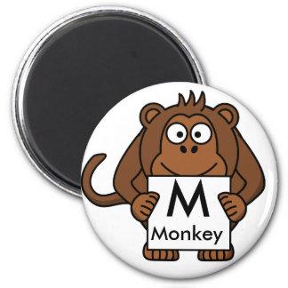 Letter M is for Monkey Children's Magnet