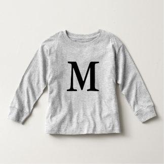 Letter M monogrammed initial t shirt  black