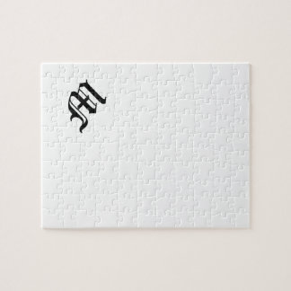 Letter M Old English Text on White Background Puzzle