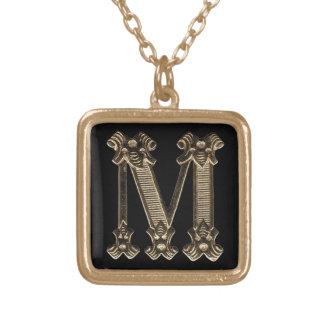 Letter M Square Necklace Necklace