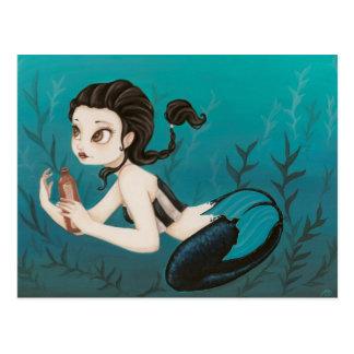 Letter- mermaid Post Card