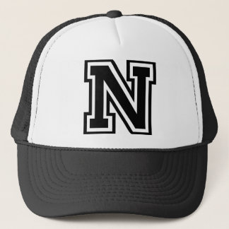 "Letter ""N"" Monogram Trucker Hat"