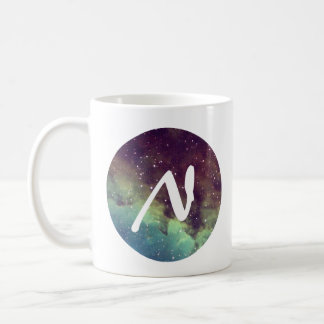 Letter 'N' Name Mug with Space Print Personalize