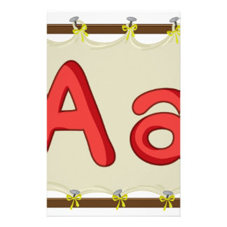 Letter of the alphabet stationery