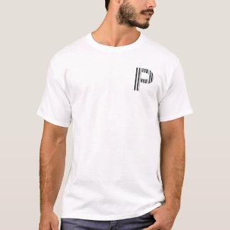 LETTER P BAR CODE First Initial Barcode Pattern T-Shirt