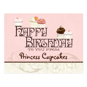 letter p happy birthday cupcake business postcard