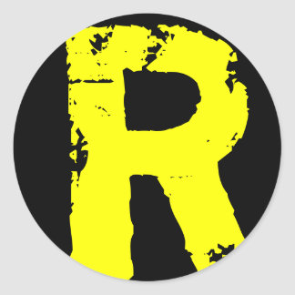 Letter R Classic Round Sticker