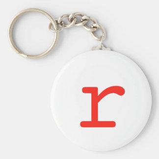 Letter R Key Ring