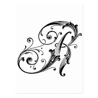Letter R Monogram Postcard