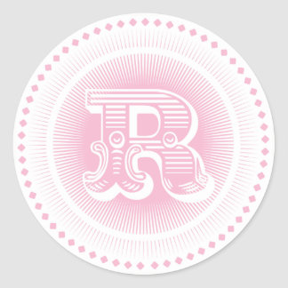 Letter R Monogram Stickers