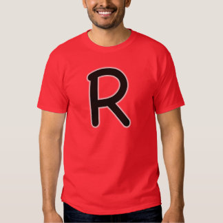 Letter R outer glow T-shirt