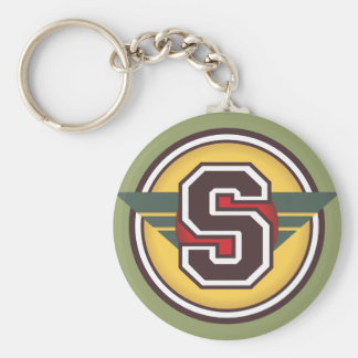 "Letter ""S"" Initial Key Ring"