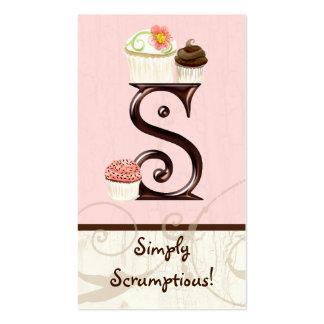 Letter S Monogram Dessert Bakery Business Cards