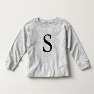 Letter S monogrammed black initial t shirt