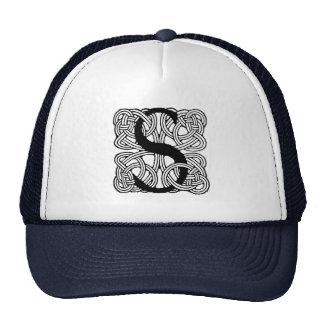 Letter S Vintage Celtic Knot Monogram Hat