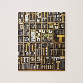 Letter T Jigsaw Puzzle