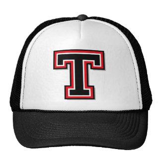 """Letter """"T"""" Monogram Mesh Hat"""