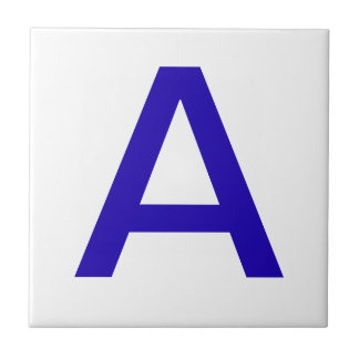 Letter Tiles - Blue on white